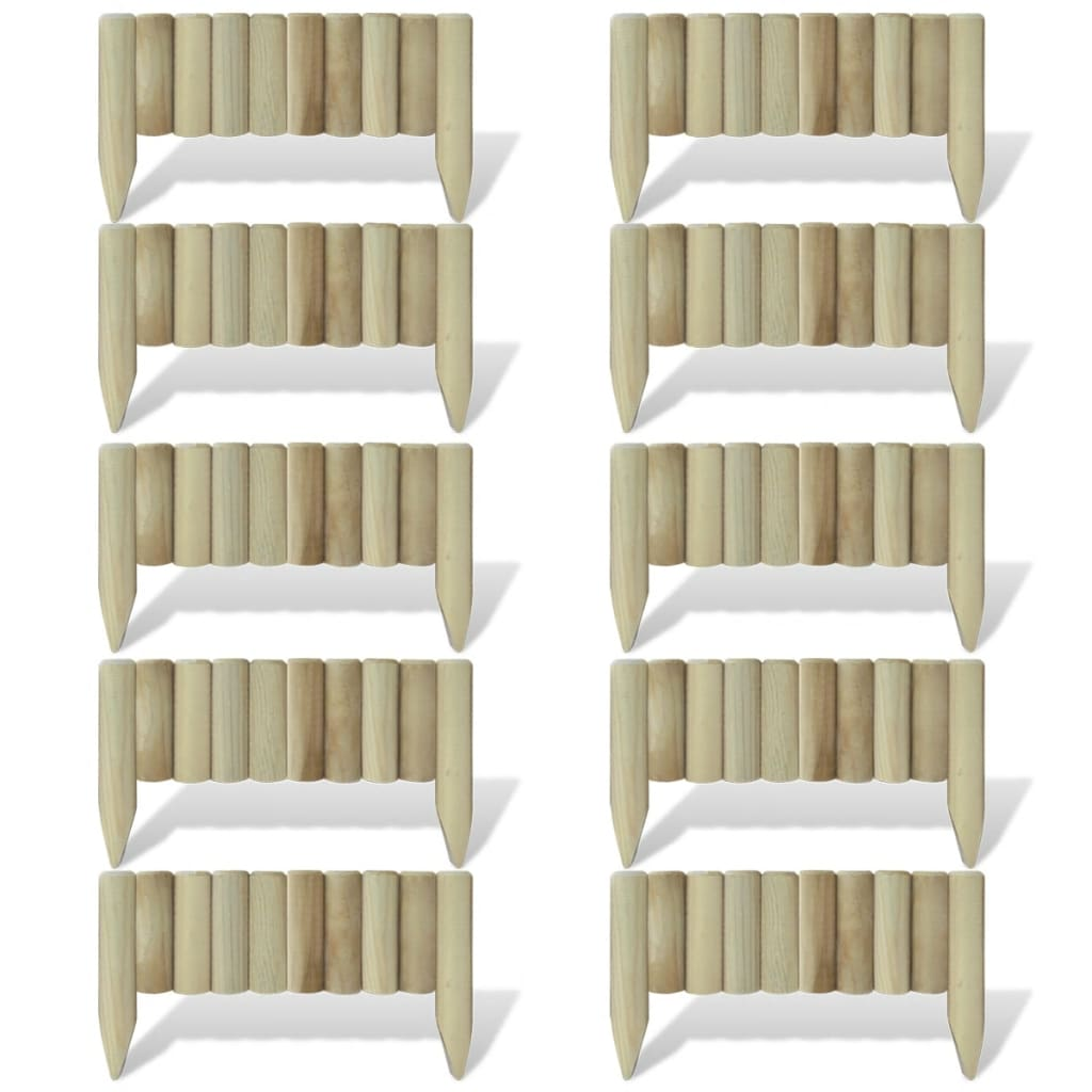 Afbeelding van vidaXL Gazonpanelen 60 cm FSC hout 10 st