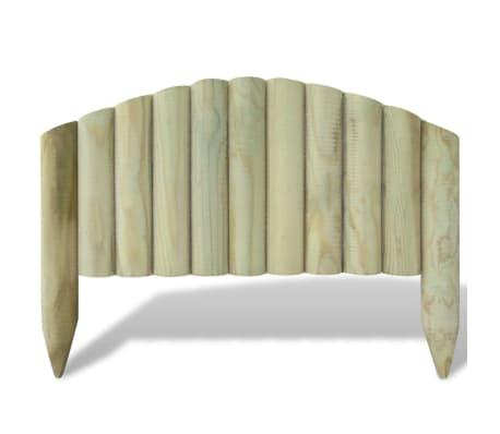 vidaXL Palizzata Recinzione da Giardino 10 pz Legno FSC 55 cm ad Arco[2/2]