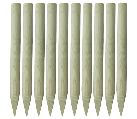 vidaXL Stâlp de gard 10 buc. 100 cm lemn ascuțit FSC[1/2]