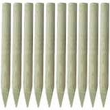 vidaXL Fence Post 10 pcs 100 cm FSC Wood Pointed