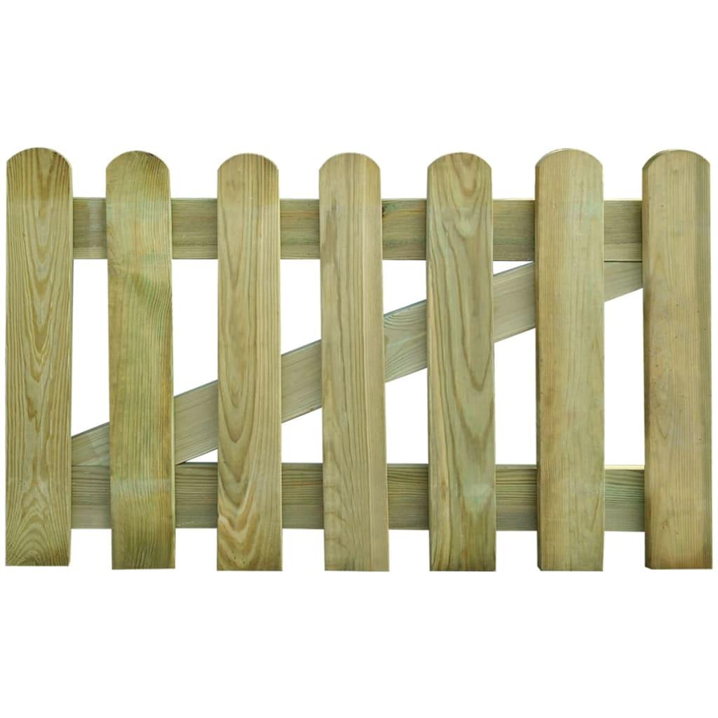 Zahradní branka dřevo 100 x 60 cm