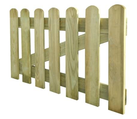 vidaXL Furtka ogrodowa, 100 x 60 cm, drewno FSC[2/2]