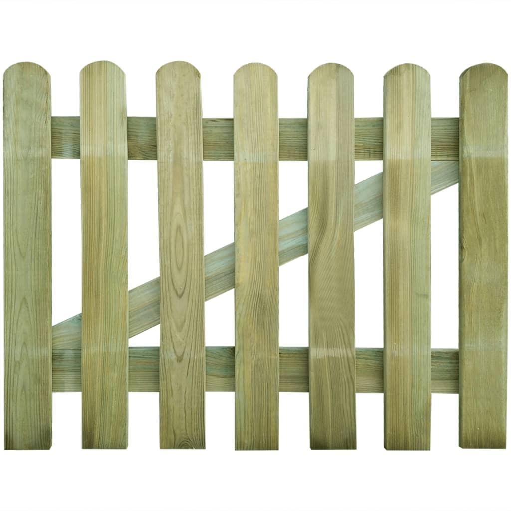 Zahradní branka dřevo 100 x 80 cm