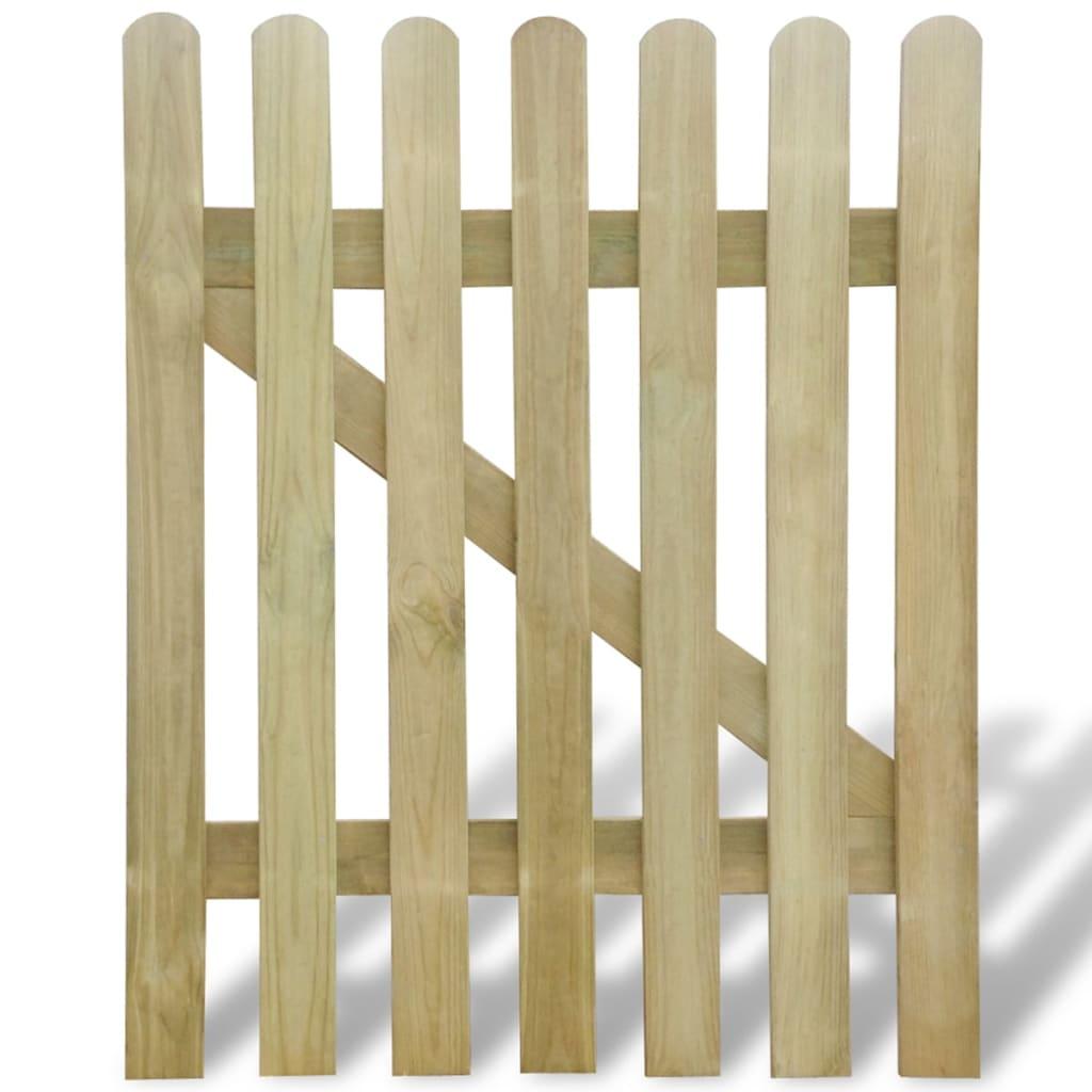 Zahradní branka dřevo 100 x 120 cm