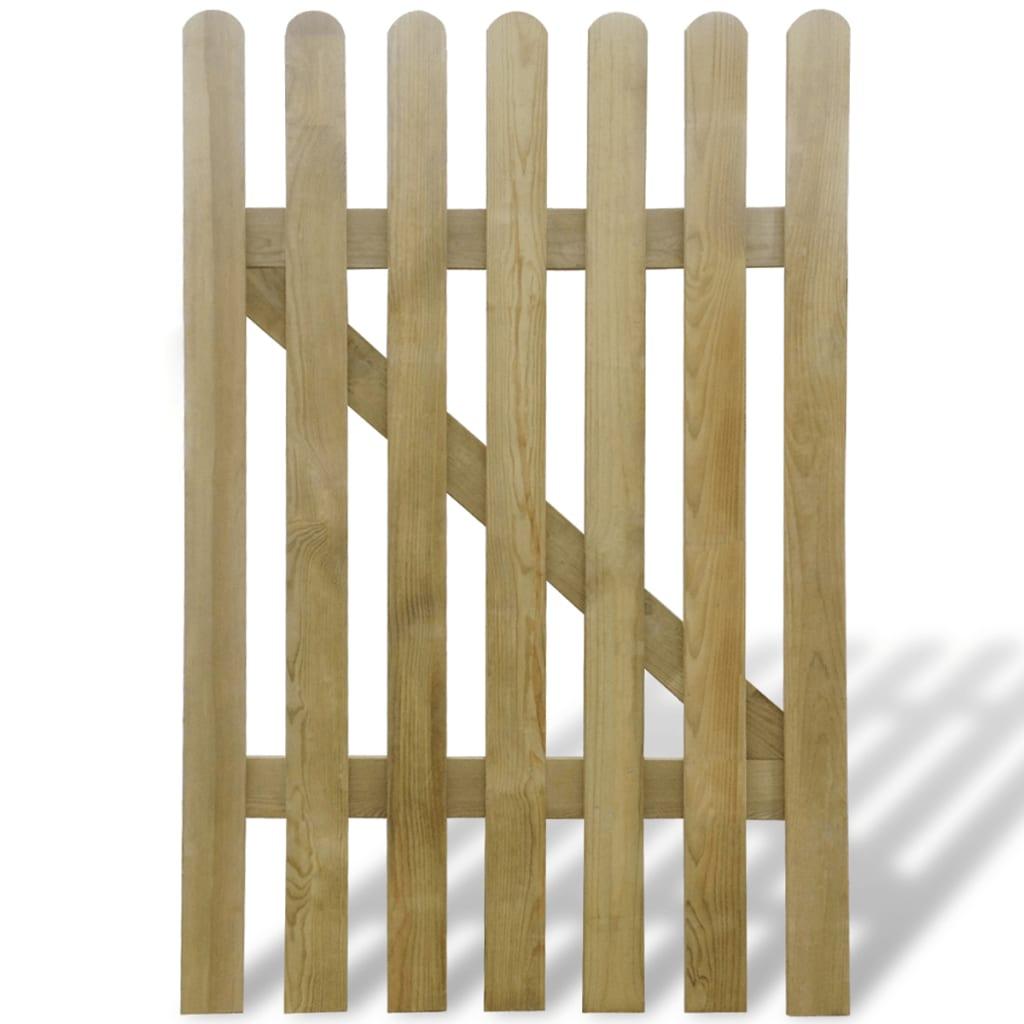 vidaXL Poartă de grădină, 100 x 150 cm, lemn poza 2021 vidaXL