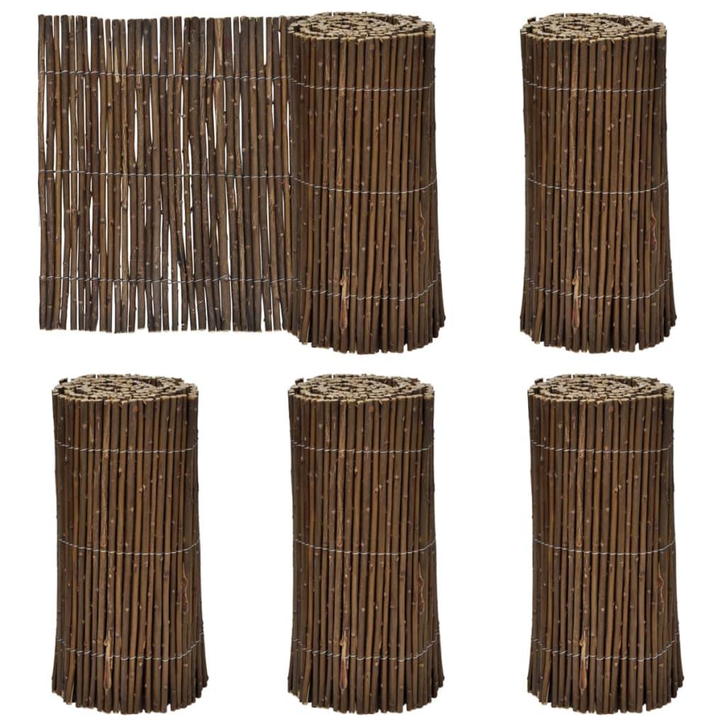 Afbeelding van vidaXL Omheining voor gras wilgenhout 200 x 30 cm (set van 5)