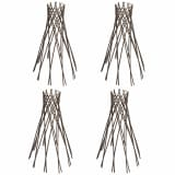 Set of 4 Willow Funnel Trellis 2' 11""