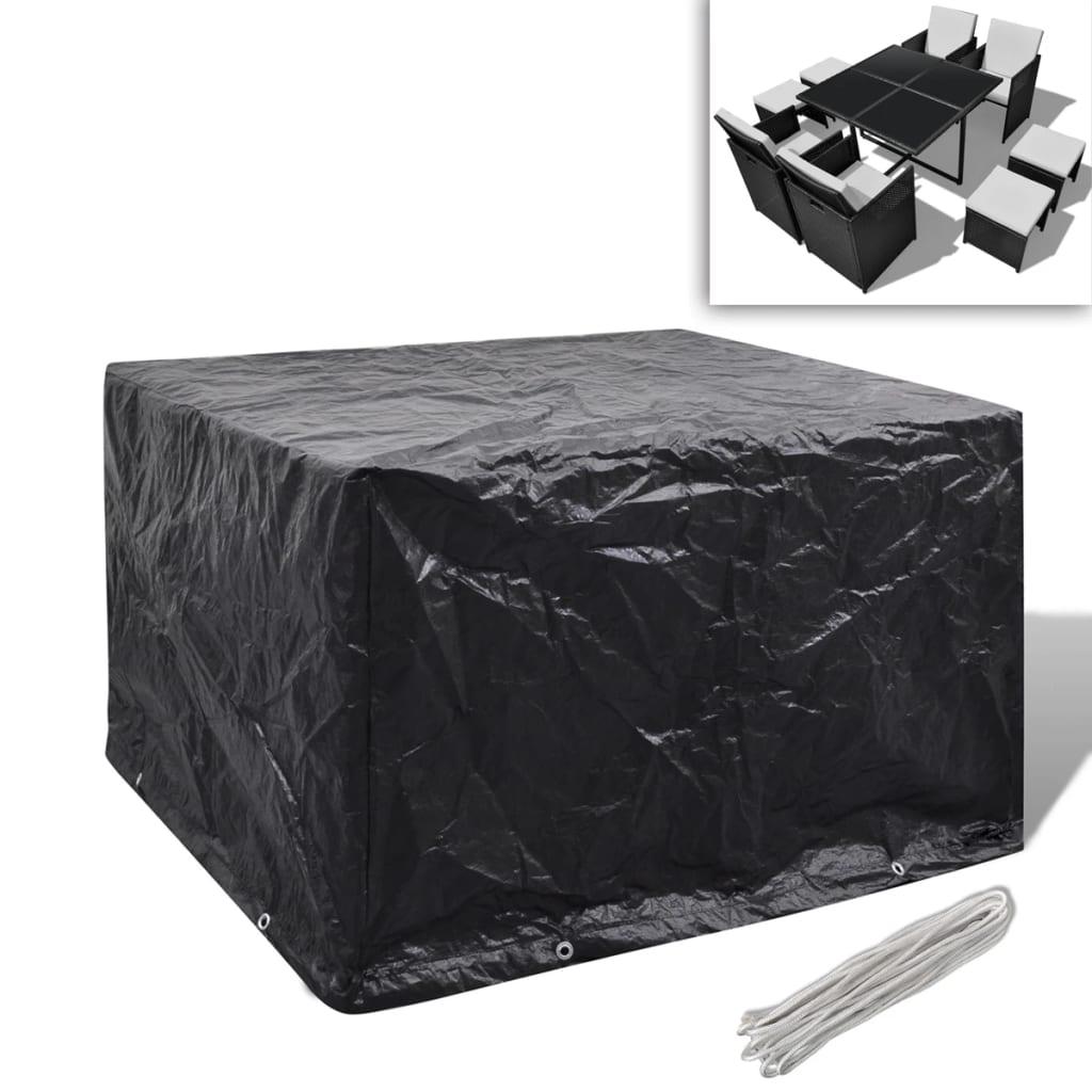 Kryt na set polyratanového nábytku pro 4 osoby, 8 oček, 113 x 113 cm
