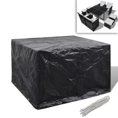 Sodo baldų uždangalų kompl., 4 žmonėms, polirat., 8 kilpelės, 113x113cm[1/5]