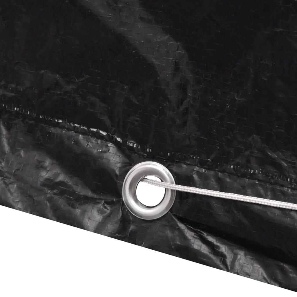 vidaXL Tuinmeubelhoes voor 6-persoons poly rattan set 8 oogjes 172 x 113 cm