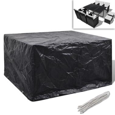 Sodo baldų uždangalų kompl., 6 žmon., polirat., 8 kilp., 172x113cm[1/5]