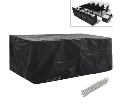 "Garden Furniture Cover 8 Person Poly Rattan Set 90"" x 45""[1/5]"