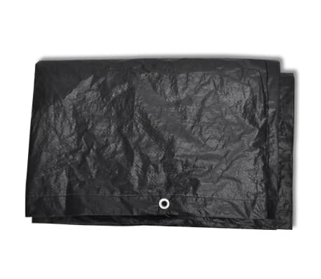 Telo di copertura per mobili polirattan con 10 occhielli 240 x 140 cm[3/5]
