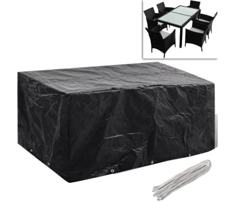 Telo di copertura per mobili polirattan con 10 occhielli 240 x 140 cm[1/5]