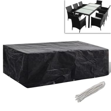 vidaxl gartenm bel abdeckung 8 personen poly rattan 10 sen 300x140 cm g nstig kaufen. Black Bedroom Furniture Sets. Home Design Ideas