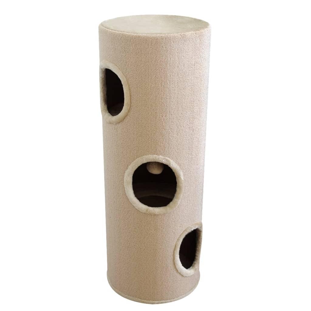 Căsuță pentru pisici din sisal bej 100 cm vidaxl.ro