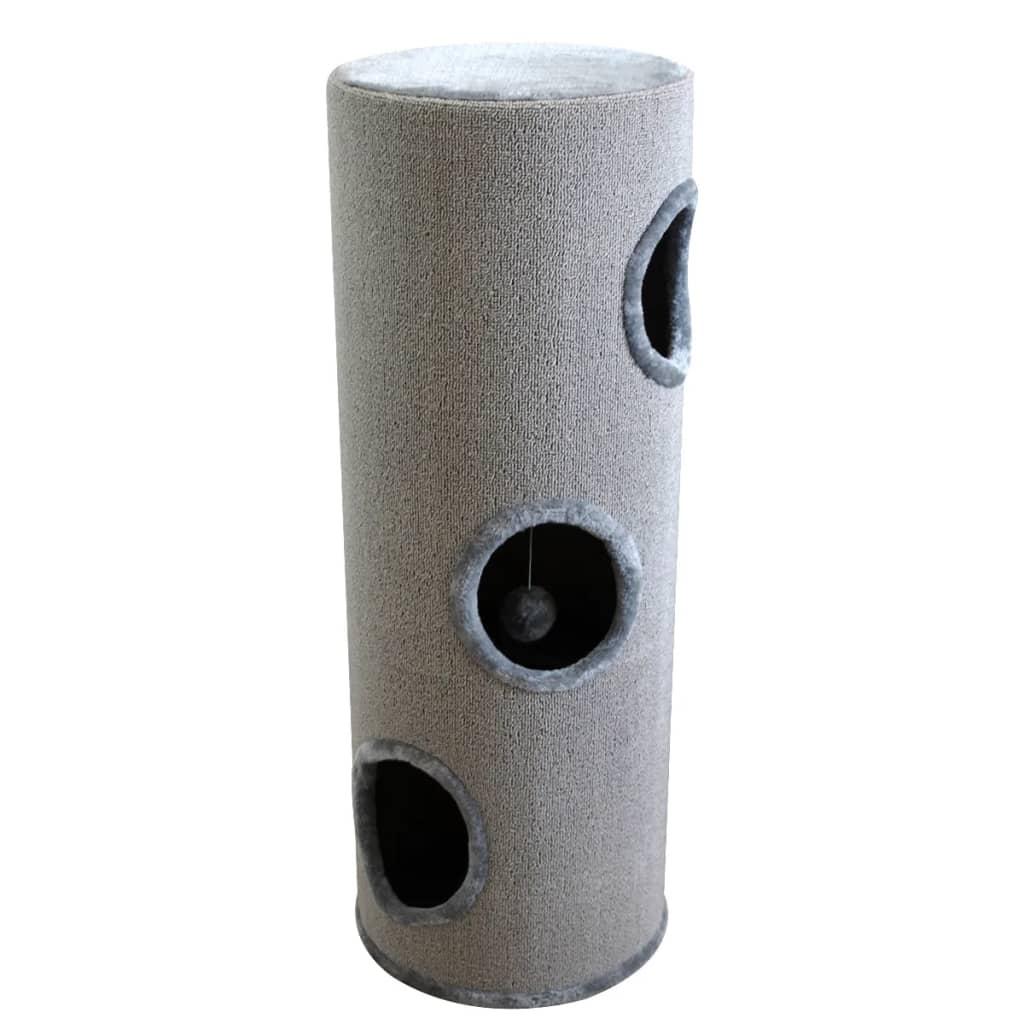 Căsuță din sisal pentru pisici, 100 cm, gri poza vidaxl.ro