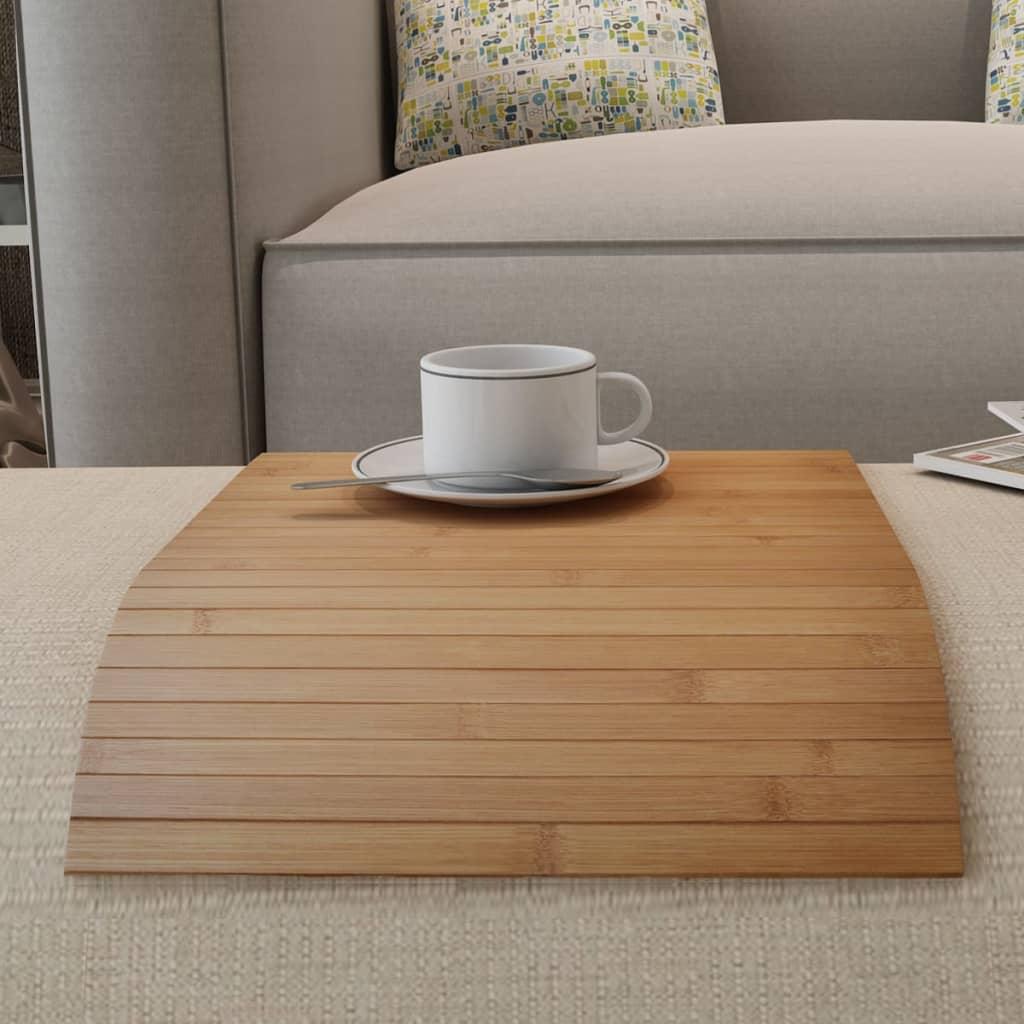 4 ks bambusové stolní prostírání, tmavá přírodní barva, 50 x 30 cm
