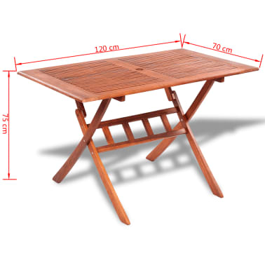 Rectangular Wooden Outdoor Dining Table[4/4]