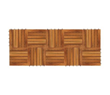 10 Medinių Plytelių iš Akacijos, 30 x 30 cm Vertikalus Raštas[2/5]