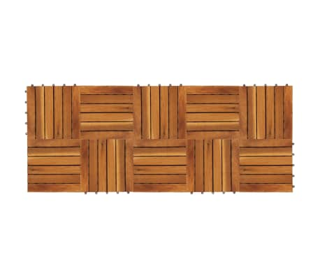 10 stk. terrassefliser i akacietræ 30 x 30 cm lodret mønster[2/5]