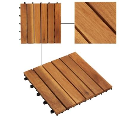 vidaXL Terrastegels acaciahout 30 x 30 cm verticaal patroon (10 stuks)[3/5]