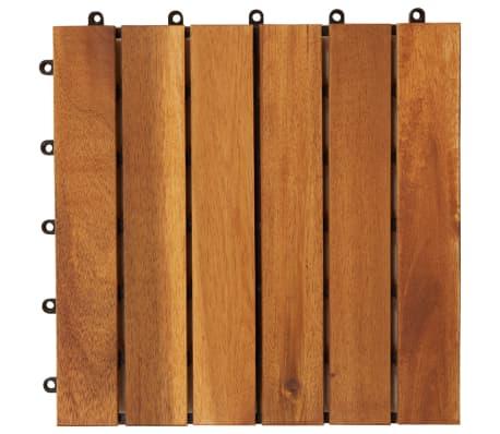 vidaXL Terrastegels acaciahout 30 x 30 cm verticaal patroon (10 stuks)[4/5]