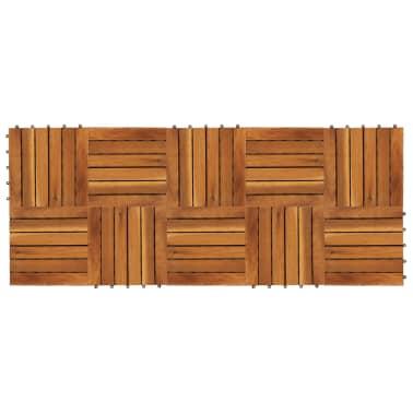 vidaXL Terrastegels acaciahout 30 x 30 cm verticaal patroon (10 stuks)[2/5]
