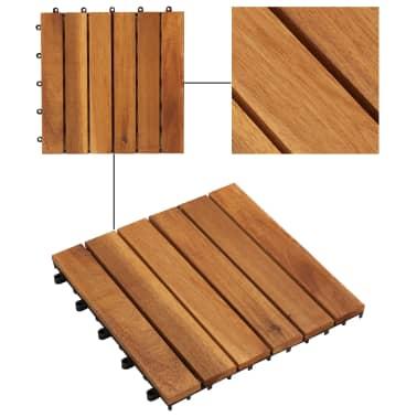 10 stk. terrassefliser i akacietræ 30 x 30 cm lodret mønster[3/5]