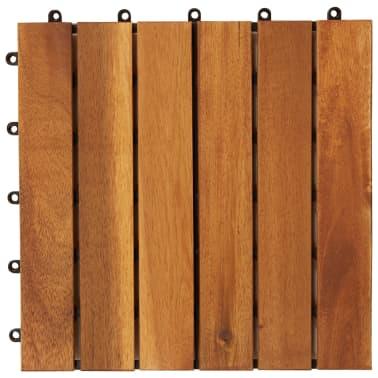 10 stk. terrassefliser i akacietræ 30 x 30 cm lodret mønster[4/5]