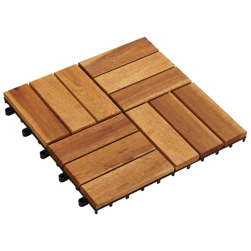 Image of vidaXL 10 pcs Acacia Decking Tiles 30 x 30 cm