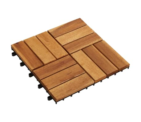 "vidaXL 10 pcs Acacia Decking Tiles 11.8""x11.8"""