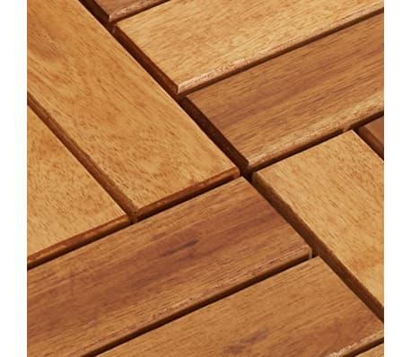 Tuile de plancher en acacia 10 pcs[5/5]