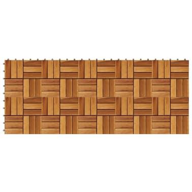 Tuile de plancher en acacia 10 pcs[2/5]