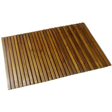 Badematte aus Akazienholz 80 x 50 cm[1/4]