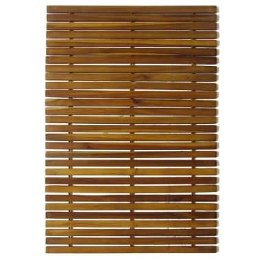 Badematte aus Akazienholz 80 x 50 cm[2/4]