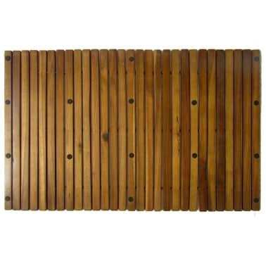 Badematte aus Akazienholz 80 x 50 cm[4/4]