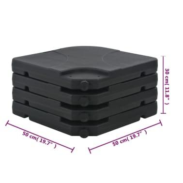 Portable Parasol Base Sand / Water Filled 16 Gal[6/6]