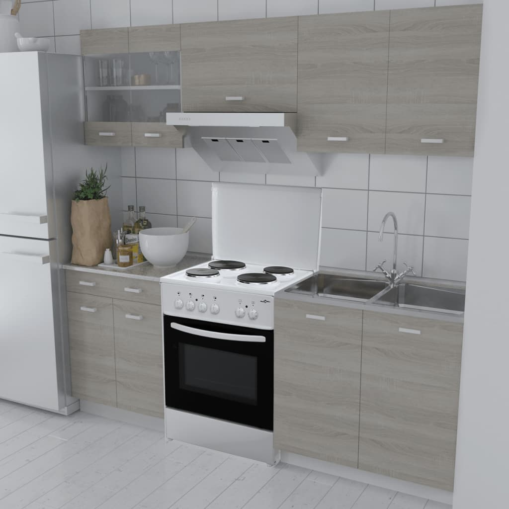 vidaXL Kuchyňská linka 5 kusů se samostatným sporákem dekor dub