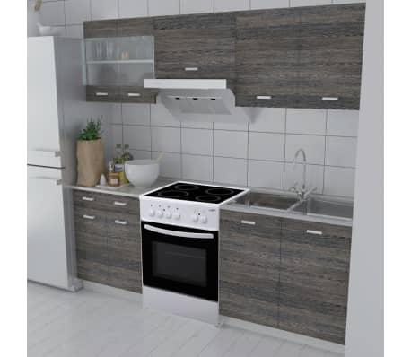 k chenzeile 5 tlg wenge optik mit freistehendem herd g nstig kaufen. Black Bedroom Furniture Sets. Home Design Ideas