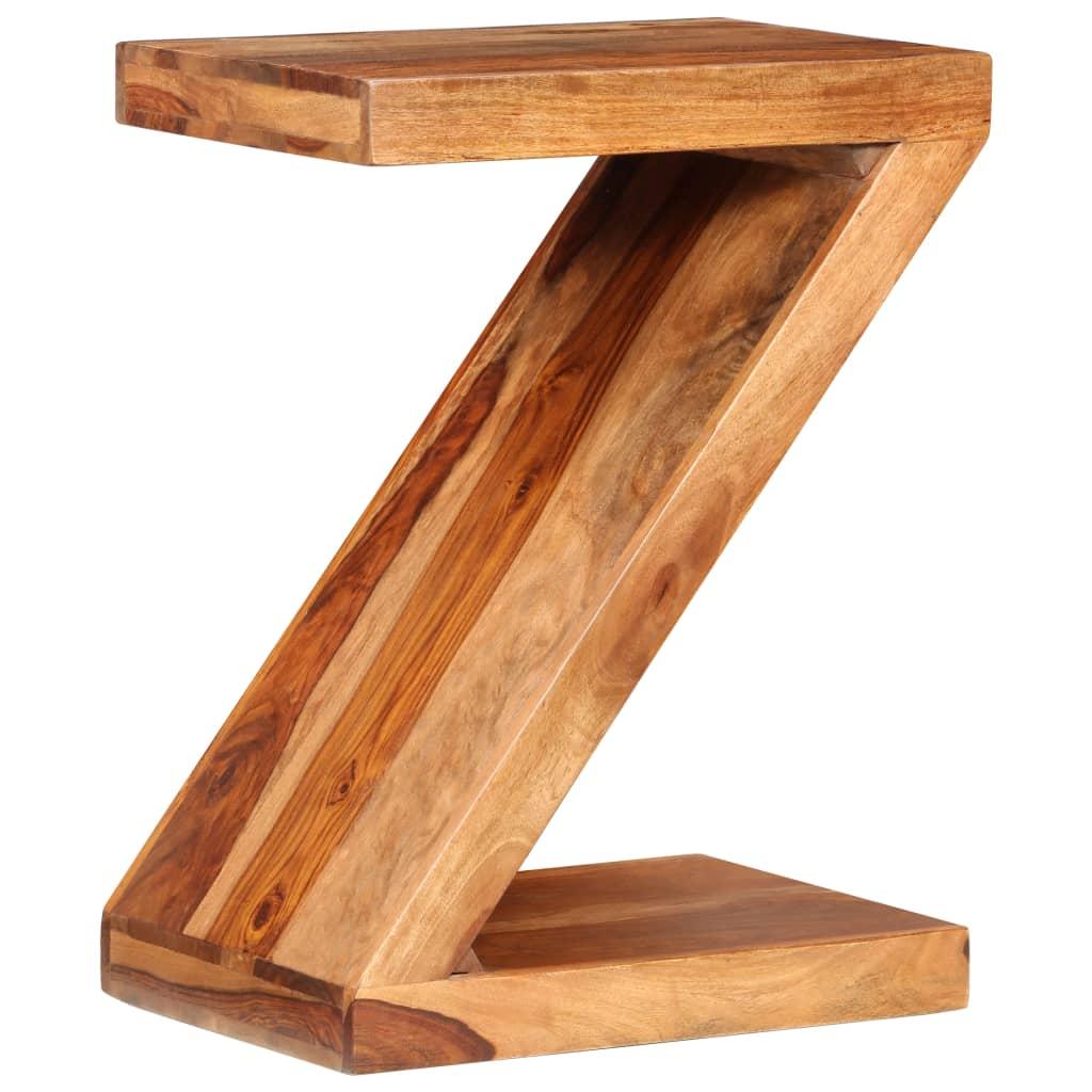 Odkládací stolek ve tvaru písmene Z, masivní sheeshamové dřevo