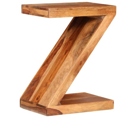 vidaXL Side Table Z-shaped Solid Sheesham Wood