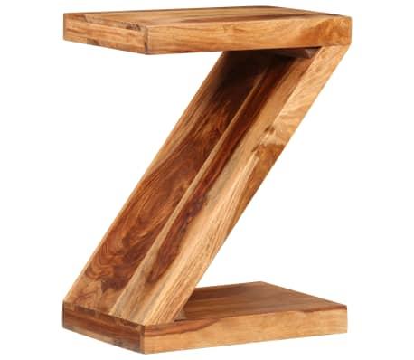 vidaXL Table d'appoint Forme de Z Bois massif de Sesham[11/11]