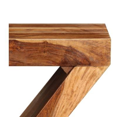 vidaXL Table d'appoint Forme de Z Bois massif de Sesham[4/11]