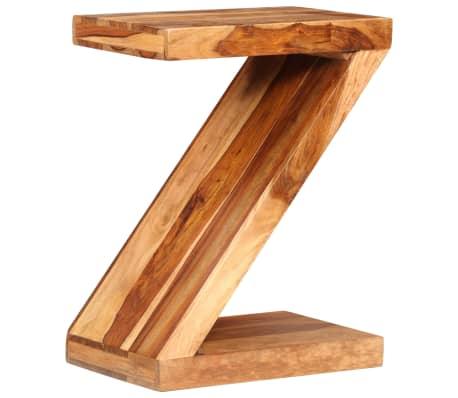 vidaXL Table d'appoint Forme de Z Bois massif de Sesham[8/11]