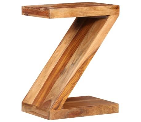 vidaXL Table d'appoint Forme de Z Bois massif de Sesham[9/11]
