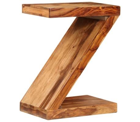 vidaXL Table d'appoint Forme de Z Bois massif de Sesham[10/11]