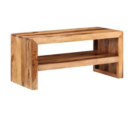 Acheter vidaxl table d 39 appoint et support tv bois massif for Support tv bois