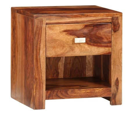 vidaXL Nightstand with 1 Drawer Solid Sheesham Wood[1/11]