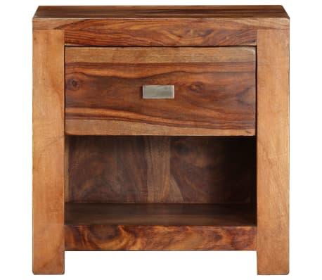 vidaXL Nightstand with 1 Drawer Solid Sheesham Wood[2/11]